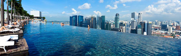 The Infinity Pool on the Roof of the Marina Bay Sands