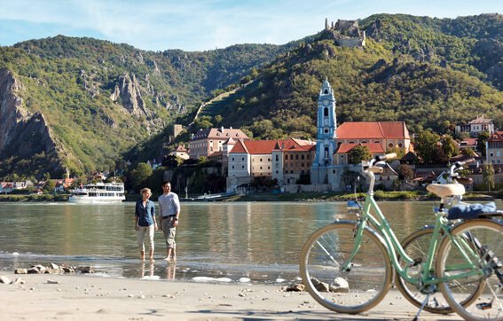 Cruise through Duernstein in the Wachau Valley
